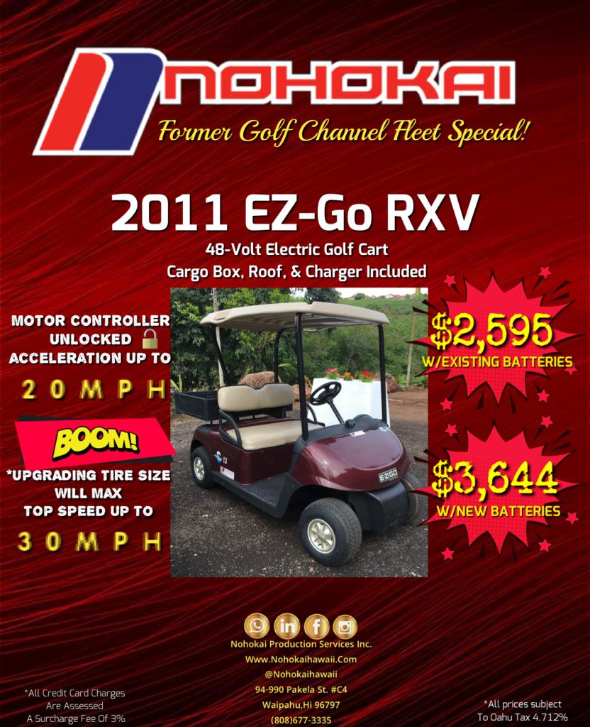 Used EZ Go Golf Cart for Sale Hawaii Oahu Honolulu Maui Kauai Molokai Big Island